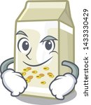 smirking soy milk isolated with ... | Shutterstock .eps vector #1433330429