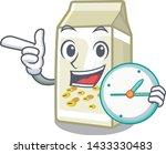 with clock soy milk isolated... | Shutterstock .eps vector #1433330483