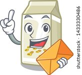 with envelope soy milk isolated ... | Shutterstock .eps vector #1433330486