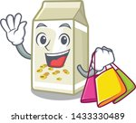 shopping soy milk isolated with ... | Shutterstock .eps vector #1433330489