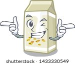 wink soy milk isolated with the ... | Shutterstock .eps vector #1433330549