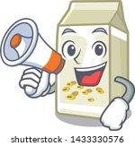 with megaphone soy milk in a... | Shutterstock .eps vector #1433330576
