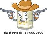 cowboy soy milk in a cartoon box | Shutterstock .eps vector #1433330600