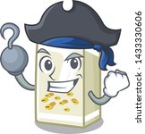 pirate soy milk in a cartoon box | Shutterstock .eps vector #1433330606