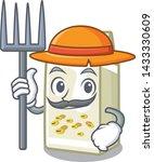 farmer soy milk in a cartoon box | Shutterstock .eps vector #1433330609