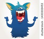 Stock photo cute cartoon monster halloween bigfoot character 1433333453