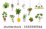 set of macrame hangers for... | Shutterstock .eps vector #1433340566