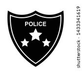police shield icon black... | Shutterstock .eps vector #1433341619