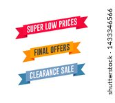 super low prices  final offers  ... | Shutterstock .eps vector #1433346566