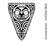 tribal polynesian tattoo shape... | Shutterstock .eps vector #1433367863