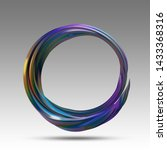 circle of colorful metal...   Shutterstock . vector #1433368316