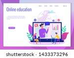 concept of online education... | Shutterstock .eps vector #1433373296