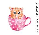 watercolor hand draw... | Shutterstock . vector #1433374019