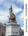 monument on grand place... | Shutterstock . vector #143338480
