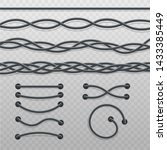 set of intertwined cable braids ... | Shutterstock .eps vector #1433385449