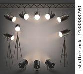 spotlights or professional... | Shutterstock .eps vector #1433388290