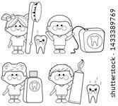 illustration set of children... | Shutterstock . vector #1433389769