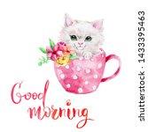 watercolor hand draw... | Shutterstock . vector #1433395463