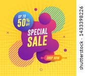 special sale banner on yellow... | Shutterstock .eps vector #1433398226