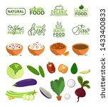 natural product vector  bowls... | Shutterstock .eps vector #1433400833