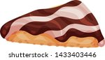 chocolate nut on a piece of... | Shutterstock .eps vector #1433403446