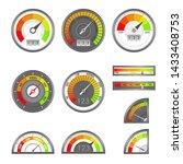 score indicator. speedometer... | Shutterstock .eps vector #1433408753