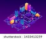 isometric city vector... | Shutterstock .eps vector #1433413259