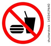 no eating or drinking symbol... | Shutterstock .eps vector #1433419640