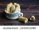 roasted banana  pisang awak ... | Shutterstock . vector #1433421080