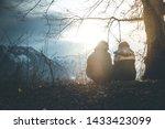 loving couple enjoys the... | Shutterstock . vector #1433423099