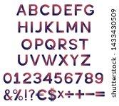 creative modern alphabet ...   Shutterstock .eps vector #1433430509