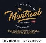 """the montreal"". vintage modern... | Shutterstock .eps vector #1433450939"