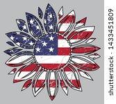 usa flag in sunflower  4th of... | Shutterstock .eps vector #1433451809