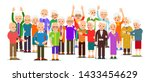 old people group. crowd older... | Shutterstock .eps vector #1433454629