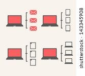 Laptop Schemes. - stock vector