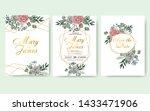 wedding floral invitation card... | Shutterstock .eps vector #1433471906