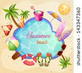 summer holiday illustration... | Shutterstock .eps vector #143347360