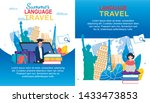 summer language travel banner... | Shutterstock .eps vector #1433473853