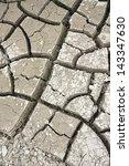 Cracked dry ground texture - stock photo