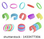 realistic detailed 3d color... | Shutterstock .eps vector #1433477306