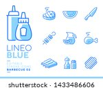 lineo blue   barbecue and grill ... | Shutterstock .eps vector #1433486606
