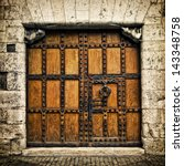Old Door In Burgos  Castilla Y...