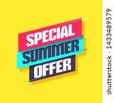 special summer offer shopping... | Shutterstock .eps vector #1433489579