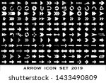 isolated arrow vector icons set.... | Shutterstock .eps vector #1433490809