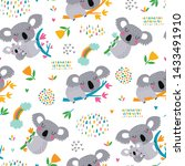vector seamless pattern with... | Shutterstock .eps vector #1433491910