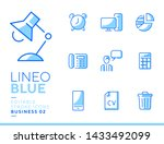 lineo blue   office and...   Shutterstock .eps vector #1433492099