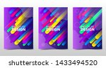 set of modern colorful... | Shutterstock .eps vector #1433494520