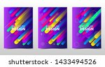 set of modern colorful... | Shutterstock .eps vector #1433494526