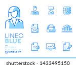 lineo blue   office and... | Shutterstock .eps vector #1433495150
