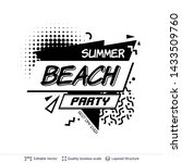 summer party ad text in pop art ... | Shutterstock .eps vector #1433509760